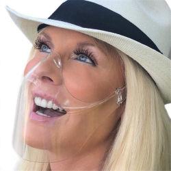Anti-Nebel und dauerhafte Clear Face Shield Clarity Maske kombinieren Comfort Safe Plastic wiederverwendbare transparente Gesichtsmaske für Erwachsene