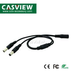 Weibchen Kabel Gleichstrom-1 Energiejack-Adapter-dem Verbinder zu des männlichen Stecker-2 für der CCTV-Kamera-LED Teiler Streifen-des Licht-2