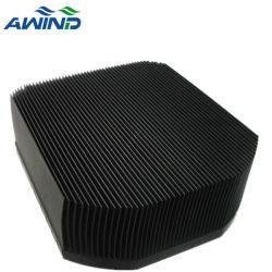 Aluminium extrudé anodisé noir personnalisé le dissipateur de chaleur