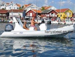 Liya 19FT 1,2 mm de PVC la nervure de gros bateau gonflable