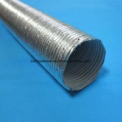 Protezione termica in fibra di vetro con manicotto corrugato in alluminio