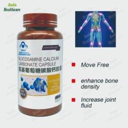 Capsula del carbonato di calcio della glucosammina dell'alimento salutare per l'alleviamento del dolore unito (una bottiglia delle 60 capsule)