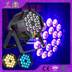 6en1 Rgbawuv 18pcs d'éclairage par LED DMX en aluminium