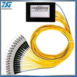 1/16 FTTH Council cabo divisor de fibra monomodo de Dispositivo de ramificação FC/Interface Upc Telecom Plc Cassette