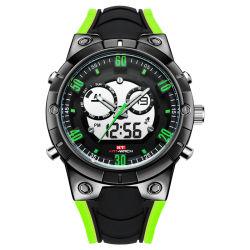 Mans Relógios de pulso Digital Ver Tempo Duplo de qualidade para relógios de quartzo Relógio desportivo grossista personalizada