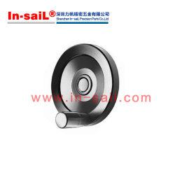 Volants solides Black-Oxide Moyeu en acier, l'anneau en aluminium anodisé mat sans trou