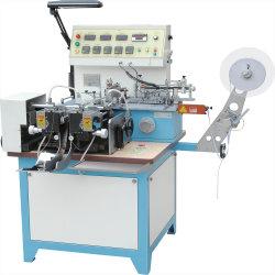 A alavanca multifuncional de etiqueta com a máquina de corte/ Veste impresso quentes e frios a etiqueta de tecido cortado e dobrar a máquina de fita, fita de algodão acetinado, Etiqueta Jz-2817