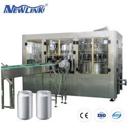 L'aluminium peut Pet automatique Le flacon en verre de boire /boisson énergétique/CSD Soda pétillant de boisson gazeuse/l'eau pure / Boisson Machine de remplissage d'étanchéité liquide