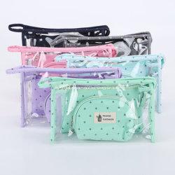 Großhandel 3 STÜCK transparent wasserdichte PVC Kosmetiktasche Set für Reisegeschenk für Mama