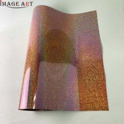 Korea Holographic Heat Transfer Flex/Flim/Vinyl für Bekleidungs-/Bekleidungsdruck CDH-08 Blush
