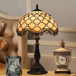 30cm Tiffany Lámpara de mesa simple Americana Dormitorio Retro de la luz de la cabecera (WH-TTB-42)
