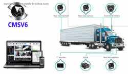 트럭을%s 이동할 수 있는 DVR 차량 디지털 비디오 녹화기 4 채널 통신망 CCTV 사진기