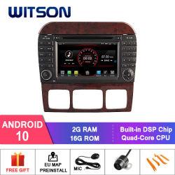 Auto DVD GPS des Witson Vierradantriebwagen-Kern Android-10 für Bildschirm der MERCEDES-BENZs Kategorien-W220 Capactive 1024*600 (für 7 Zoll und grösseren Bildschirm)