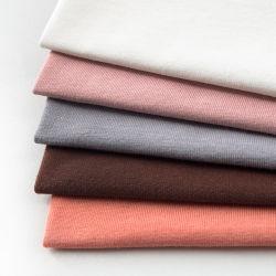 Personalisierbare Stretch-T-Shirt-Bekleidung Stoff Weft Knit 93% Baumwolle 7% Elasthan Single Jersey