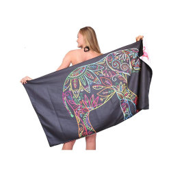 Commerce de gros Superdry Impression recto verso tissu Micro fibre des serviettes de plage