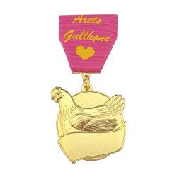 고품성 3D 메탈 애니메이션 Custom Honor Gold Insignia 및 메달