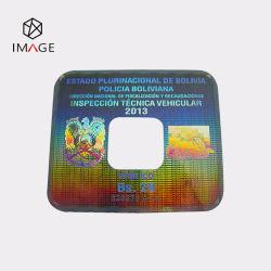 Square De-Metalized hologramme personnalisé pare-brise de voiture des autocollants avec Honeycomb inviolable