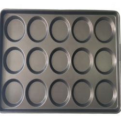 Non-Stick Industrial 15 Multi-Link Pan de Molde PAN Pan de hamburguesas Burger molde para hornear pan Tin