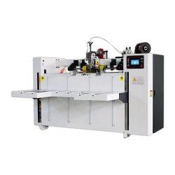 Boîte de servo double semi-automatique de l'agrafeuse coutures en carton ondulé pour l'emballage de la machine
