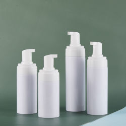 PumpおよびCoverの工場Free Sample Pet Plastic Cosmetic Packaging Foam Soap Bottle Rich Foaming Mousse Bottle