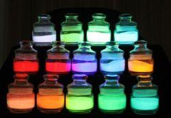 8 Jahr-Gott Mamber Fabrik-Zubehör-Photoluminescent Pigment-leuchtendes Pigment-Glühen im dunklen Pigment für Plastik und Lack