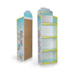 Productos para bebés de plástico de soporte de pantalla, botella de leche de la unidad de visualización POS Pop