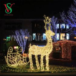 Decorazione decorativa di natale della renna del blocco per grafici della corda 3D di festa grande