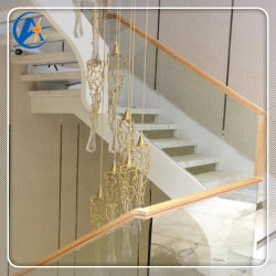 탑 1 모던 핸드 레일 디자인 스테인리스 스틸 나선형 계단 내부 Treread와 함께 계단을 올라보세요