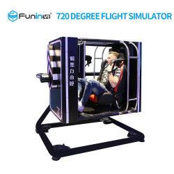 9D VR 720° 회전 비행 모션 시뮬레이터 장비 가상 리얼리티 시네마 게임 머신