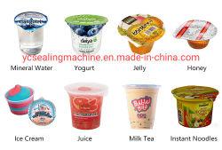 로타리 워터 프루트 주스 아이스크림 젤로 8% 할인 액체 분말 식품 음료 요거트 페이스트 플라스틱 컵 충진 밀봉 포장 기계 라인
