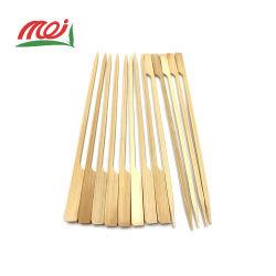 Cocktail de bambu plano personalizado Espeto Stick Sushi para alimentos