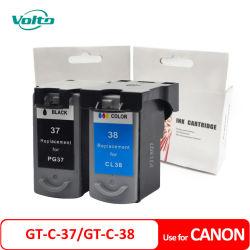 Compatible Canon GT-C-37 GT-C-38 Pg37 Cl38 Cartucho de tinta para Canon PIXMA MP140 Canon PIXMA MP210 Canon PIXMA IP2600 de Canon PIXMA IP1900 de Canon PIXMA MX300