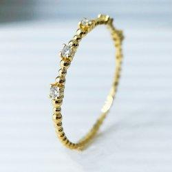 형식 보석 Handmade 18K 금 반지 다이아몬드 반지 과료 보석