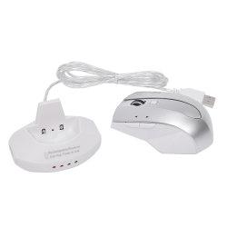 موزع USB بصري لاسلكي قابل لإعادة الشحن بقدرة 6 D بثلاثة أجهزة في ماوس واحد للكمبيوتر المحمول