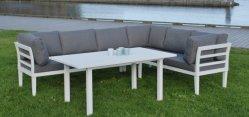 알루미늄 소파 세트 현대적인 실외 정원 파티오 호텔 세트 레저 알루미늄 소파 라운지 의자 가구, 실외 가구 공장
