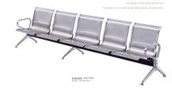 ステンレス鋼5のSeater Vistorの椅子のレセプションの椅子空港ラウンジチェア