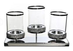 L'ODM Glitter Diamond 3 Set pilier des chandeliers, parfait pour la décoration de Noël, lieu de mariage, anniversaire, décoration de salle de séjour