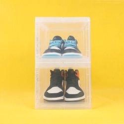 تعبئة صندوق حاوية الأحذية الأمامية المخصصة بالجملة حقيبة عرض صندوقةمع قطع Logowholesale مخصصة للحذاء البلاستيكي يحتوي المداس الأمامي على