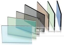 Azul oscuro de bronce Verde Gris Euro Rosa Negro gris plata claro tinte dorado con manchas de color de hoja de vidrio flotado reflectante 3mm 4mm 5mm 6mm 8mm 10mm 12mm Factory