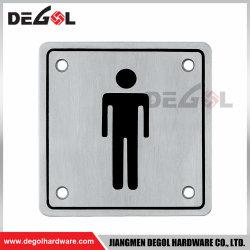 Кронштейн из нержавеющей стали квадратных мужчин двери табличка для туалета