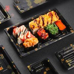 Contenedores de plástico desechables BOPS Sushi Bandeja de envases de plástico