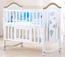 Blanco multifuncional niño cama cuna para bebe durmiendo nido Cuna Corral Cuna de Madera maciza Kids