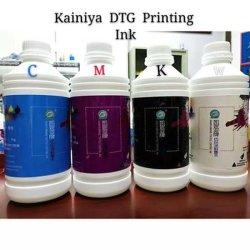 DTG цифровой текстильный Cmyk воды на основе водорастворимых чернил при печати с высоким владение английским языком для струйной печати футболки печать