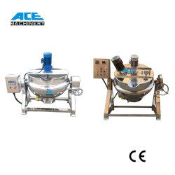 caldaia rivestita di cottura industriale del riscaldamento del POT del commestibile 100~1000liters del vapore GPL del gas dell'ostruzione del fornello del miscelatore del POT naturale elettrico del rivestimento con l'agitatore