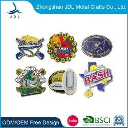 заводская цена Китай 3D Логотип магнитного Rhinestone/флаг/мультфильм/частоты сердечных сокращений и цветочный/художественных ремесел годовщины сувенирный подарок золотые полиции контакт значки