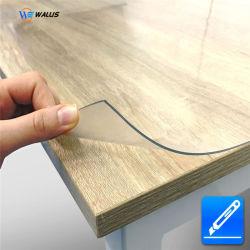 폴리 염화 비닐 (PVC) 필름 두 배는 명확한 비닐 Rolls 테이블 피복에 사용된 연약한 유연한 PVC 플라스틱 롤 장을 닦았다