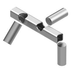 As peças de metal de corte a laser 3D O SERVIÇO DE CORTE A LASER DO TUBO
