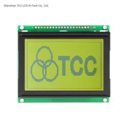 128X64 Yellow-Green Gráfico Stn Aip31107/08 videoconsola portátil de controlador de pantalla LCD
