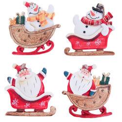 Привлекательность разработки Рождество Санта снежную бабу висящих орнамент полимера на стене висел двери оформление