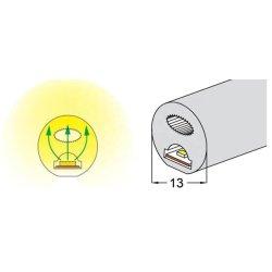 Difusor de 360 grados de 13mm*13mm redondo Funda de silicona de la manguera de caucho tubo flexible de 5mm de luz LED Neon Flex Strip